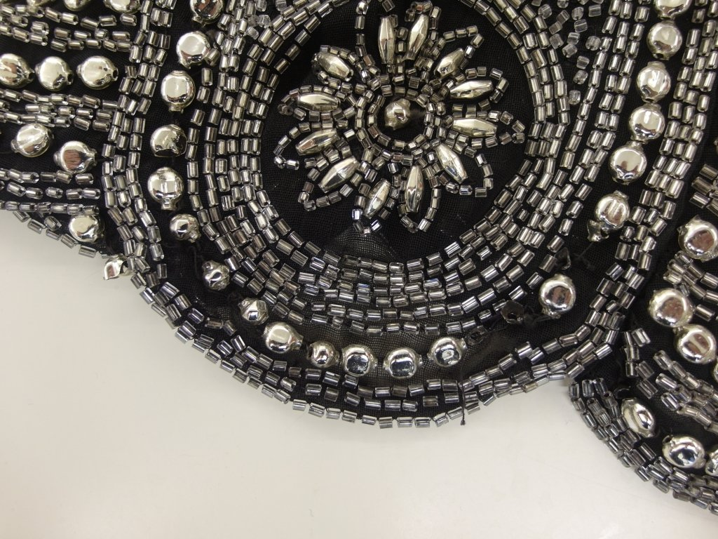 Detail of the beading at the hem.