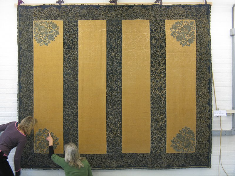The West Wallhanging after conservation treatment.