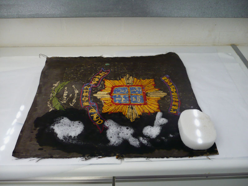 Wetcleaning the Embroidery