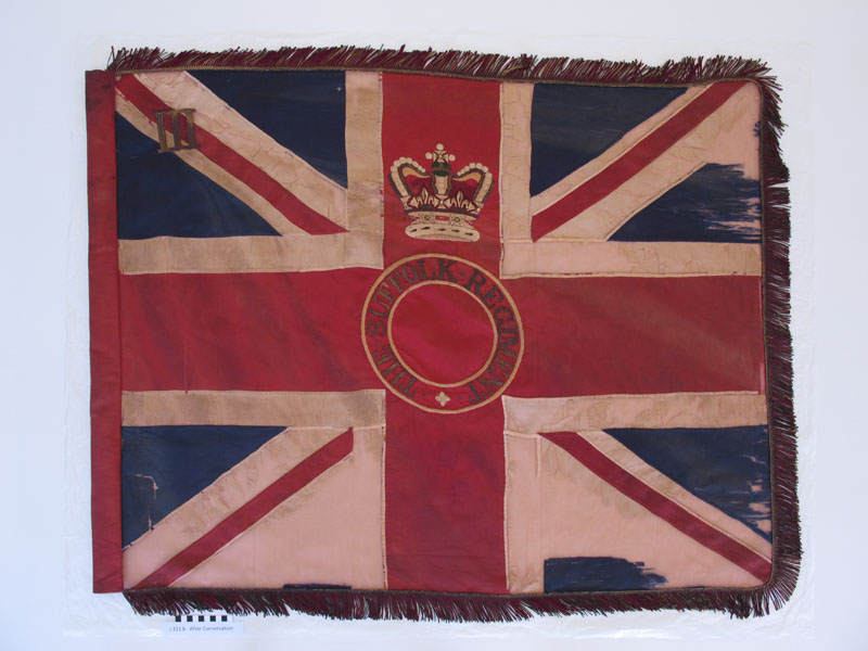 The front of the Queen's Colour