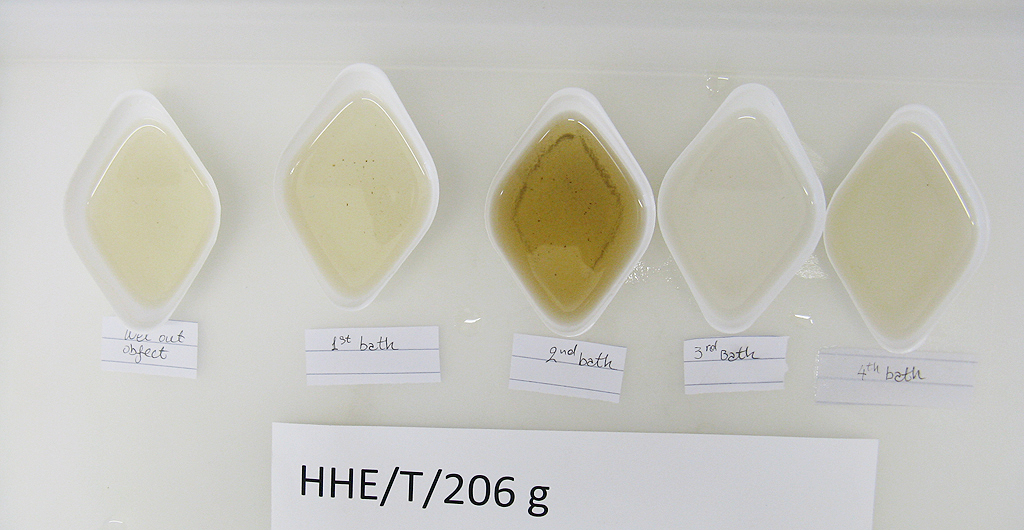 Wash bath samples of cleaning Copehood 206g