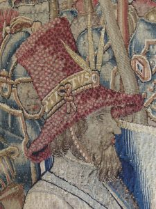 The exquisitely woven hat of Titus after conservation.
