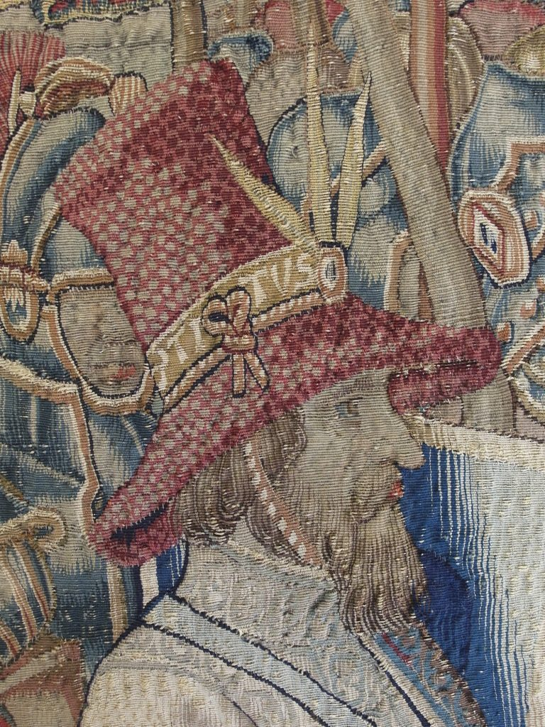 The exquisitely woven hat of Titus after conservation which fronted our 2016 Christmas Card