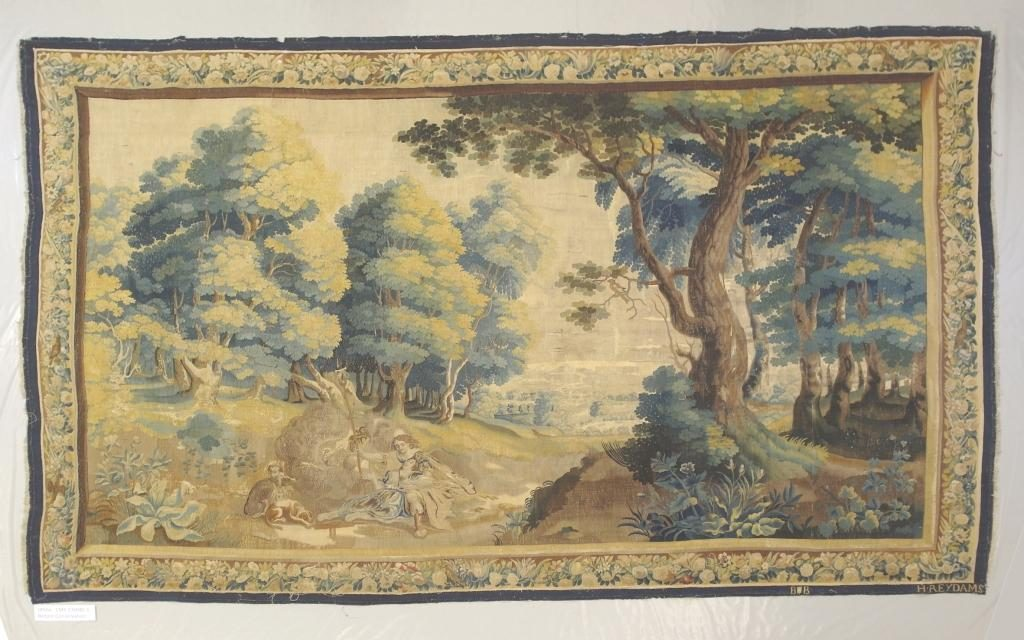 Spangled Bedroom Tapestry Before Conservation
