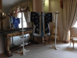 5. Blue embroidered silk robe on display, AC_web