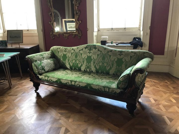 Ickworth House – Library Sofa